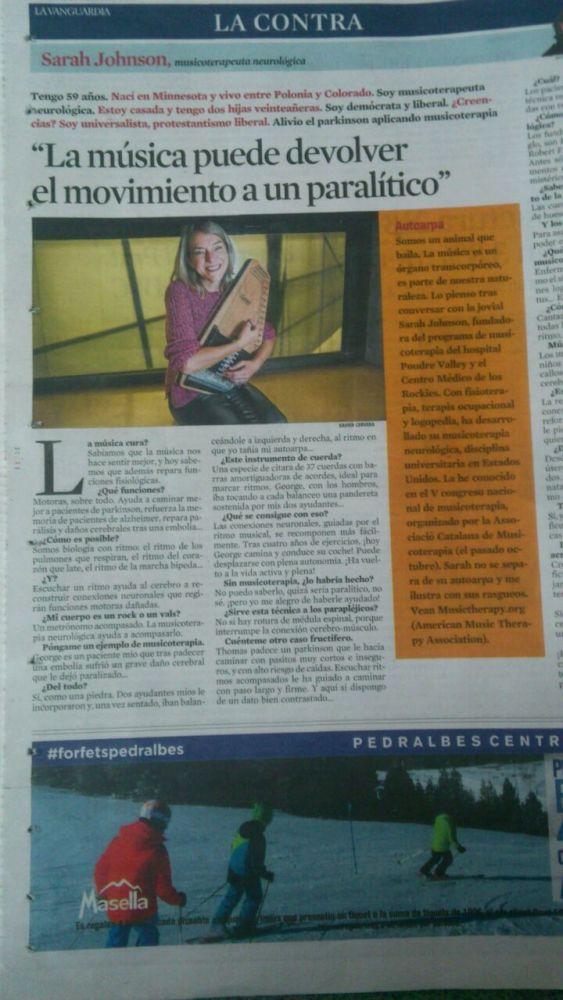 Musicoteràpia a La Vanguardia